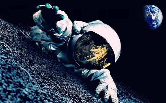 壁紙 トラブルに宇宙飛行士