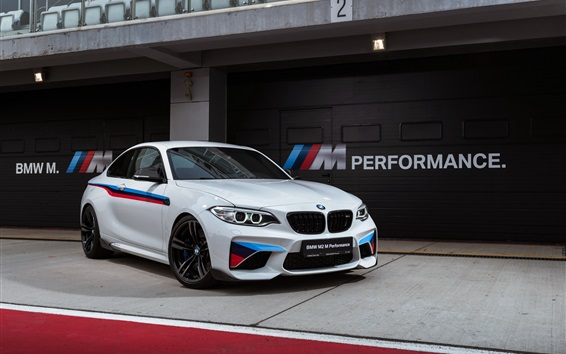Wallpaper BMW M2 F87 white coupe