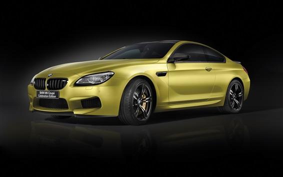 Papéis de Parede BMW M6 Coupe, carro cor de ouro