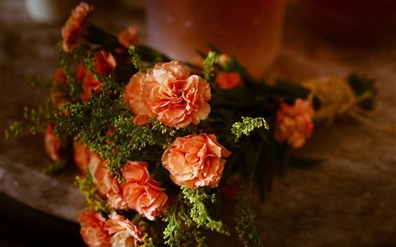 Papéis de Parede bouquet de flores, cravos