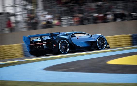 Обои Bugatti Видение Gran Turismo, синий скорость суперкара
