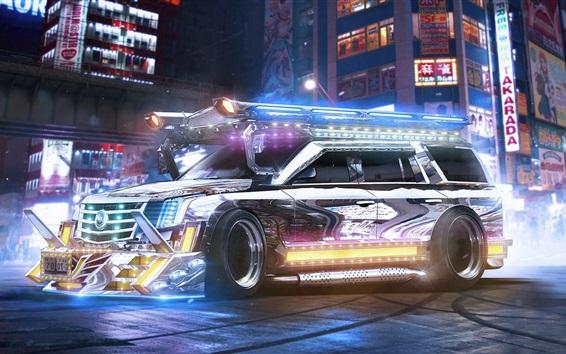 Fond d'écran Cadillac Escalade SUV à l'avenir, belle voiture