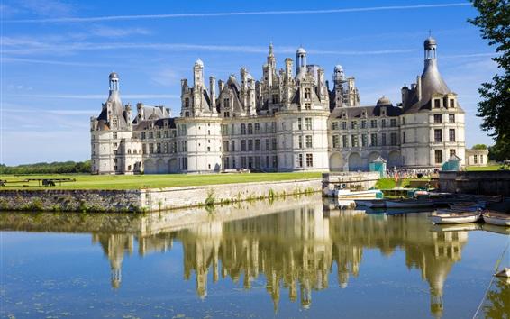 Wallpaper Chateau de Chambord, France, castle, lake