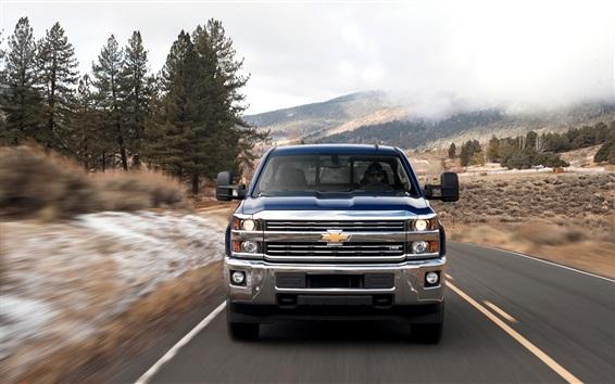 Fond d'écran Chevrolet Silverado 2500HD Heavy-Duty Trucks travail devant vue