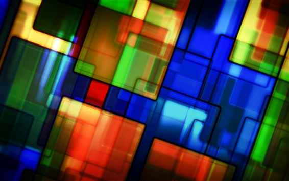 Wallpaper Colorful pattern, texture, stained glass, abstract pictures