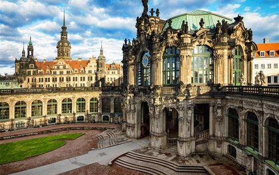 Обои Дрезден, Старый город, Германия, город, здания, дома