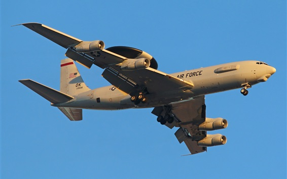 Обои E-3C самолетов, военно-воздушных сил США