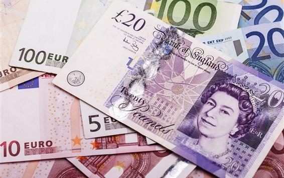 Обои EURO Валюта, бумажные деньги