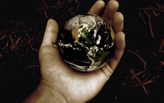 Обои Земля в руке, творческих фотографий