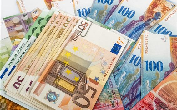 Wallpaper Euro, paper money