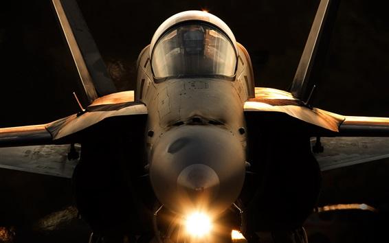 Wallpaper F-18A Hornet aircraft front view