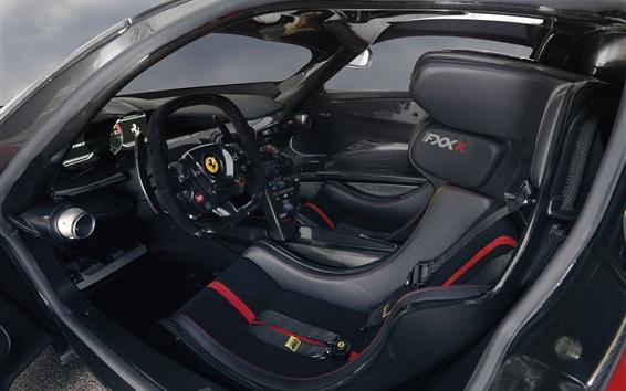 Wallpaper Ferrari FXX K supercar cab