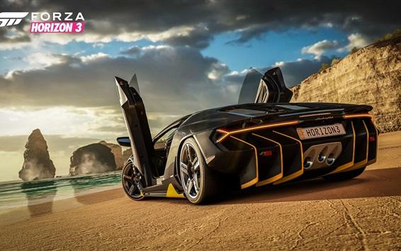 Wallpaper Forza Horizon 3, Lamborghini Centenario rear view