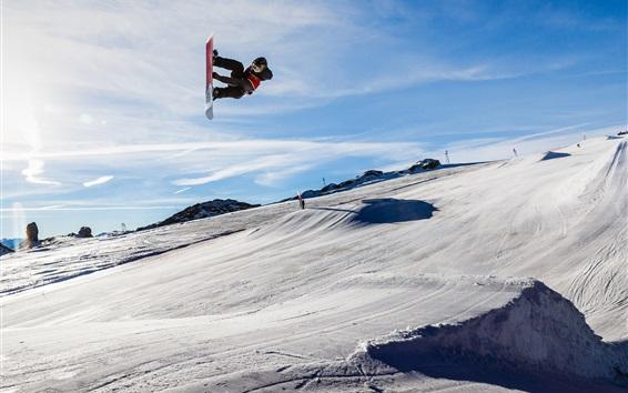 Wallpaper Glacier 3000, snowboard, Switzerland
