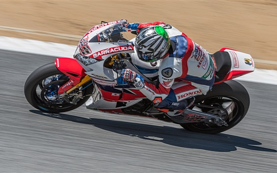 壁紙 ホンダのオートバイレーサー、スピード