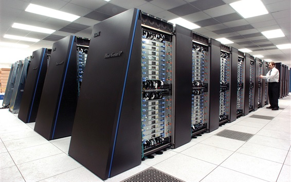 Wallpaper IBM Blue Gene supercomputer