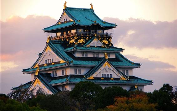 Fond d'écran lieu de Voyage japonais, temple