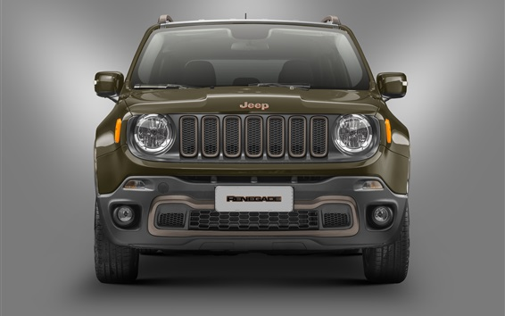 Wallpaper Jeep Renegade 75th Anniversary car front view