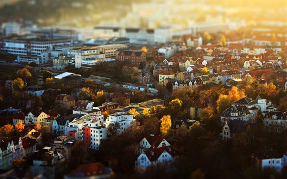 Wallpaper Jena, Deutschland, Thuringia, city, houses, buildings, autumn
