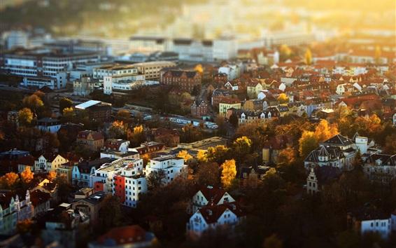 Fondos de pantalla Jena, Alemania, Turingia, ciudad, casas, edificios, otoño