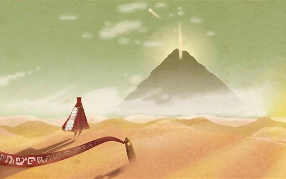 Wallpaper Journey, desert, mountain, sand, creative design