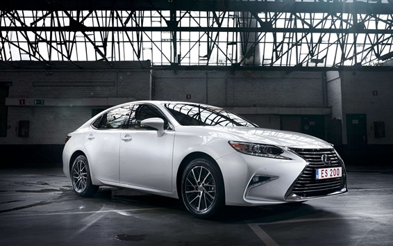 Wallpaper Lexus ES 200 white car side view