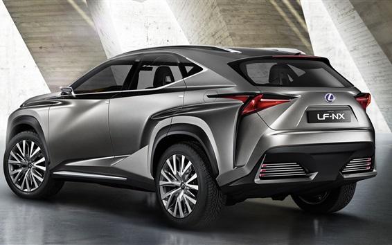 Обои Lexus NF-NX SUV вид сзади автомобиля