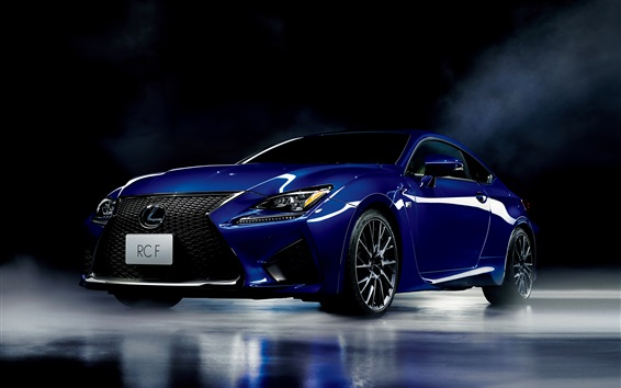Wallpaper Lexus RC F blue car