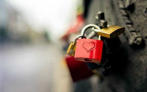 Papéis de Parede Love Hearts fechaduras