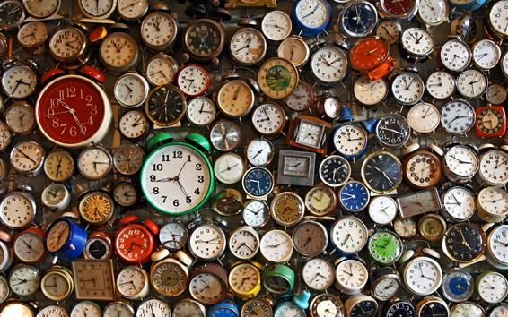 Wallpaper Many watches, alarm clocks, time counter