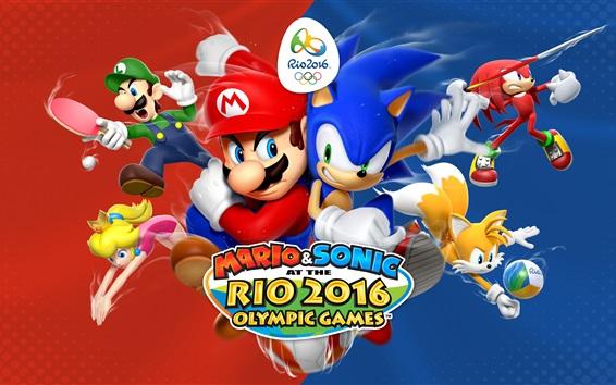 Обои Марио и Соник на Рио Олимпийских играх 2016 г.