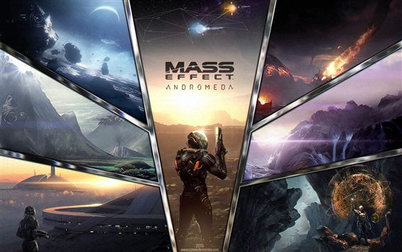 Wallpaper Mass Effect: Andromeda, 2017 PS4 games