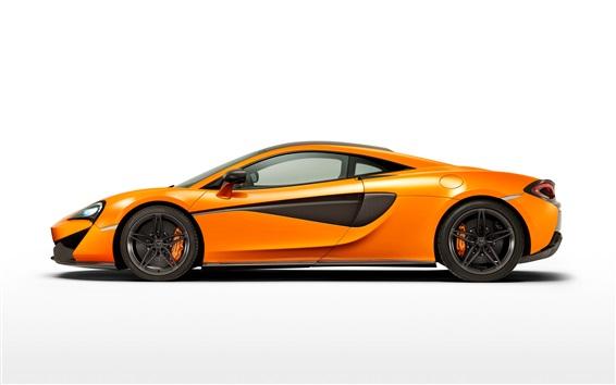 Обои McLaren 570S оранжевый сторона суперкар просмотреть