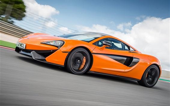 Wallpaper McLaren 570S orange supercar speed