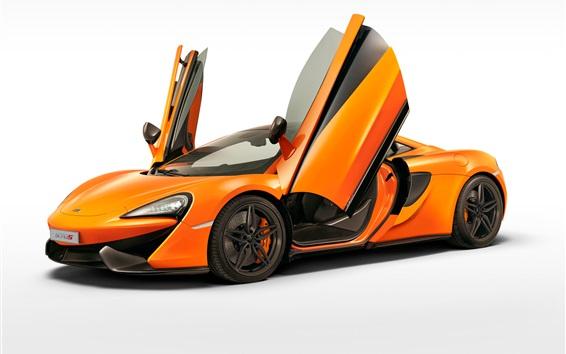 Wallpaper Mclaren 570S orange supercar wings