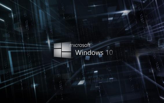 배경 화면 마이크로 소프트 윈도우 10 로고, 3D 배경