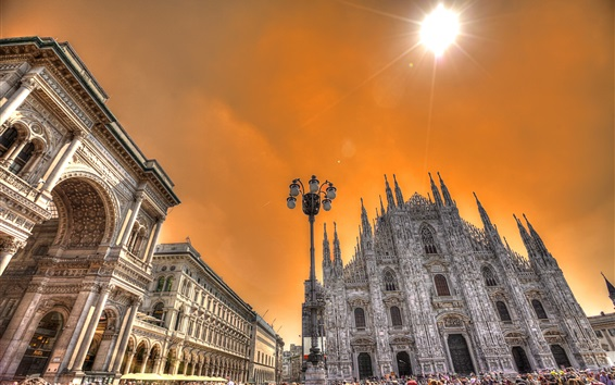 Wallpaper Milan, Italy, Cathedral, travel place, people