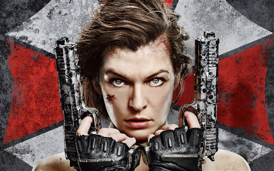 Wallpaper Milla Jovovich, Resident Evil: The Final Chapter 2017