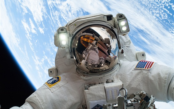 Wallpaper NASA astronaut in the space