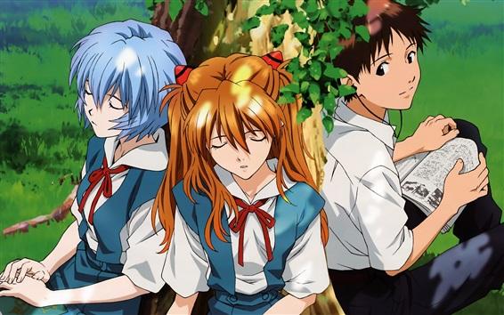 Обои Neon Genesis Evangelion, японское аниме