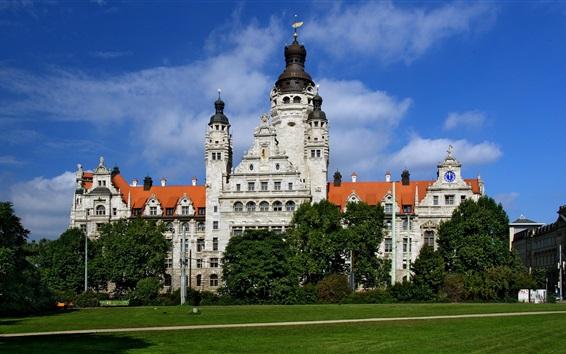 Papéis de Parede Neues Rathaus Leipzig, Alemanha
