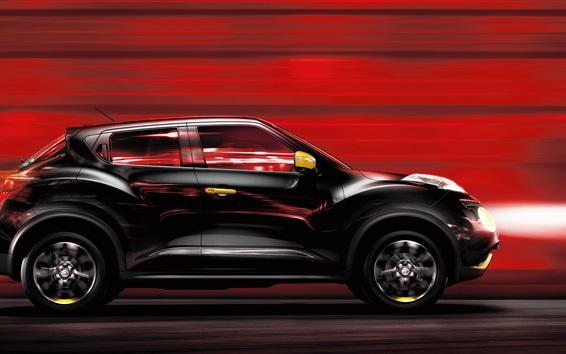 Fond d'écran Nissan Juke vitesse de la voiture noire