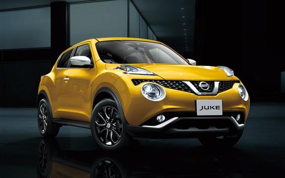 Wallpaper Nissan Juke yellow car