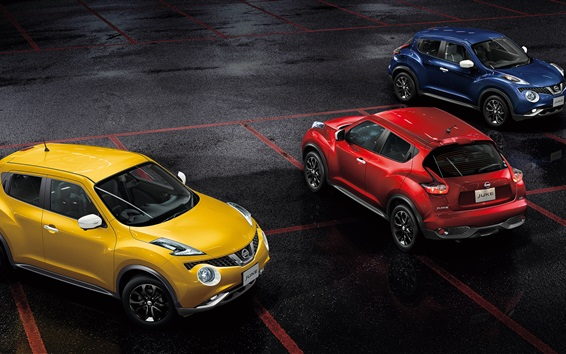 Wallpaper Nissan Juke yellow red blue cars