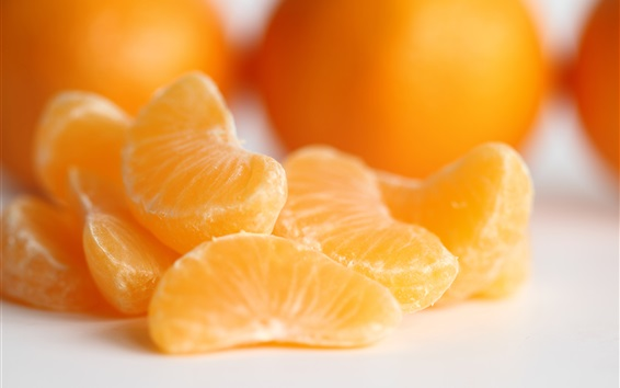 Wallpaper Oranges, fruit macro photography