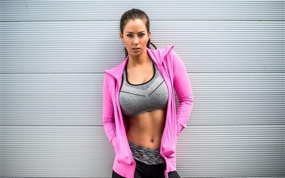 Wallpaper Pink dress girl, sportswear