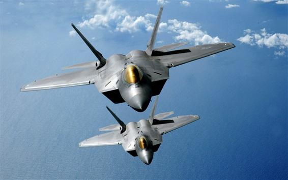 Wallpaper Raptor aircraft, flight in sky
