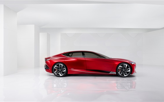 Wallpaper Red Acura Precision Concept supercar side view