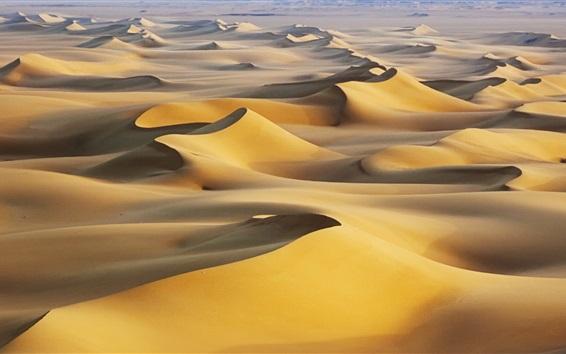 Fond d'écran Les dunes de sable, chaud, Désert Blanc, Égypte