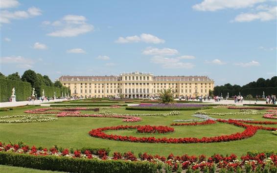 Fondos de pantalla Parque de Schonbrunn en Viena, Austria lugar de viaje